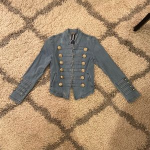Free People Military Denim Jacket